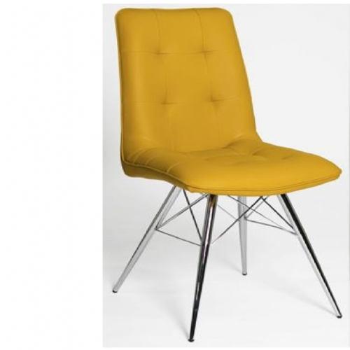 Home Essential  PMT Mustard Chairs(Pair)